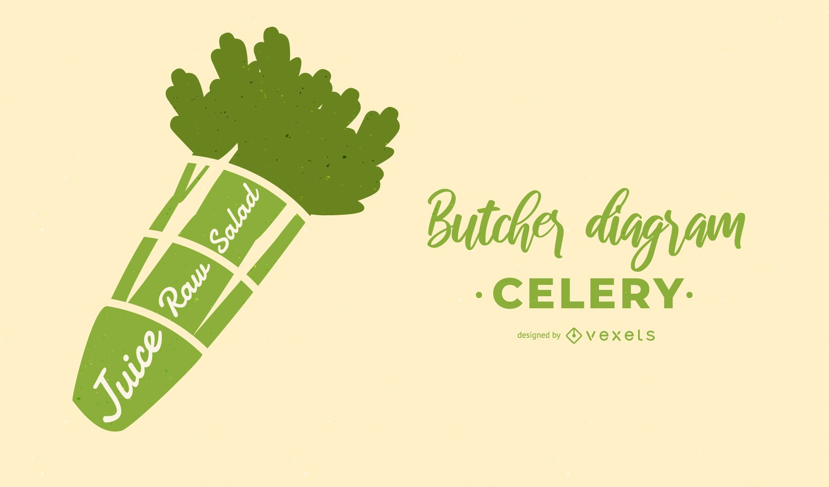 Celery Butcher Diagram Design