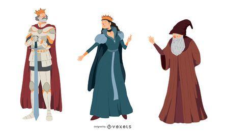 Conjunto de caracteres de fantasia