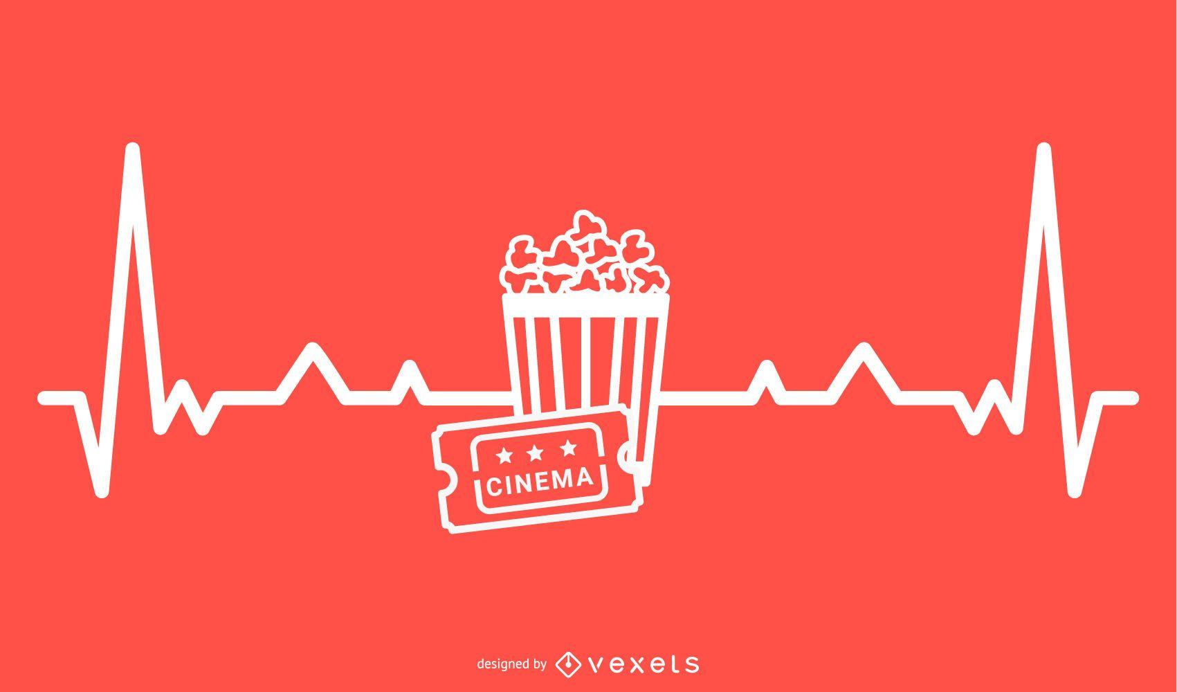 Movie Heartbeat Line Design