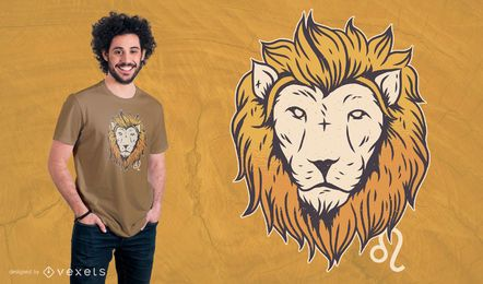 Leo Zodiac Sign T-shirt Design