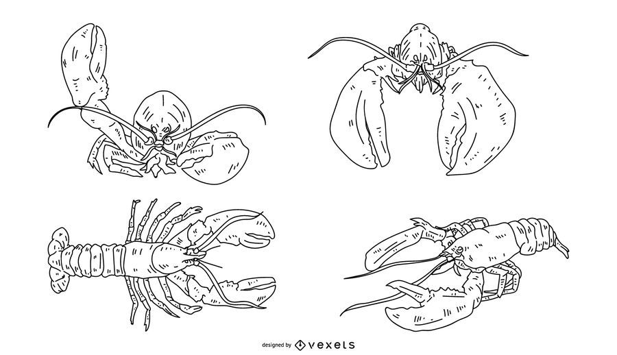 Lobster Stroke Set