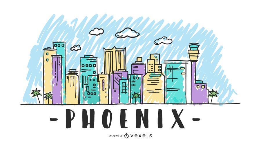 USA Phoenix Skyline Design
