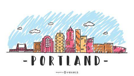 Portland USA Skyline-Design