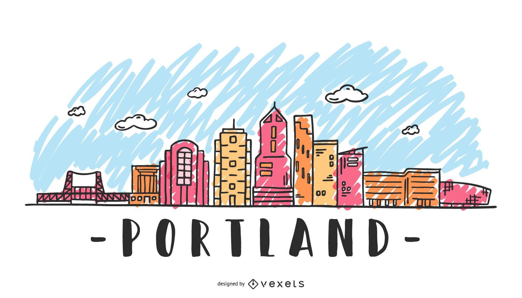 Portland USA Skyline Design