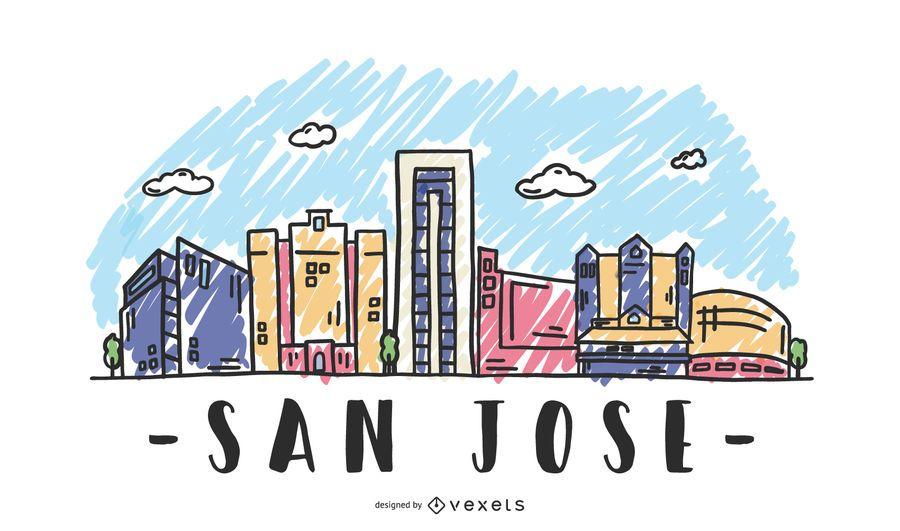 San Jose USA Skyline-Design