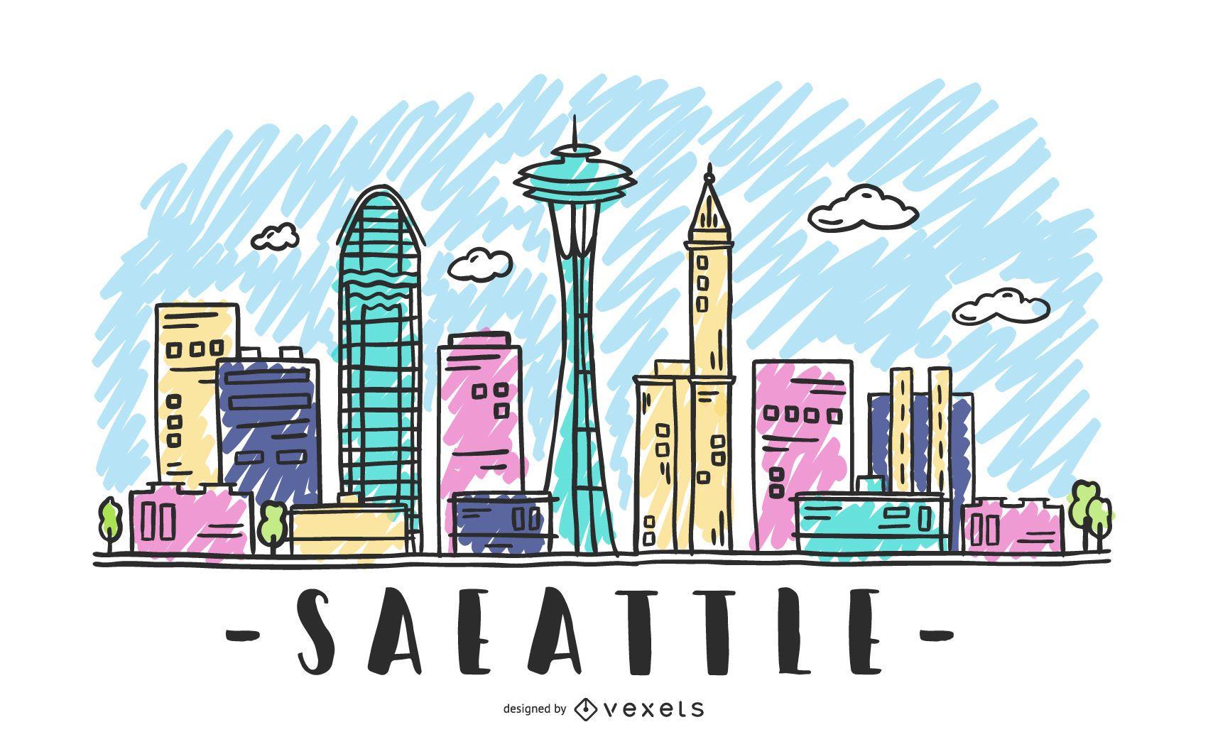 Dise?o del horizonte de Seattle