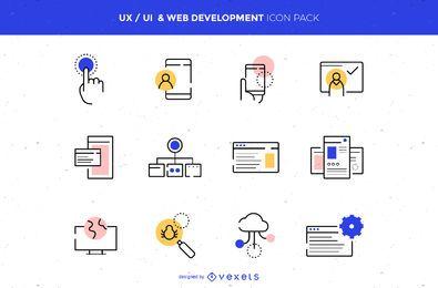 Paquete de iconos de UX / UI y desarrollo web