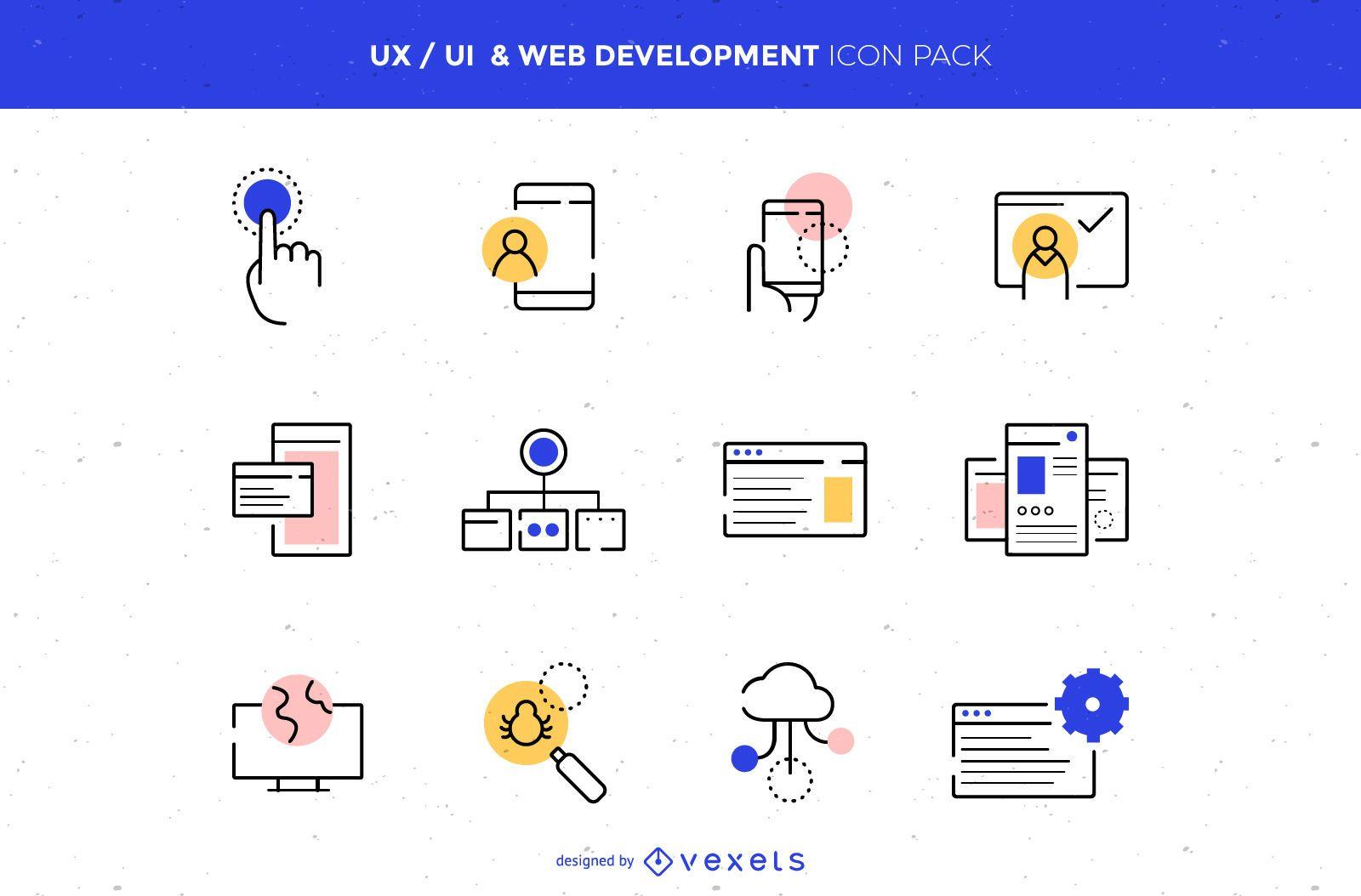 UX/UI & Web Development Icon Pack