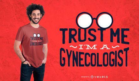 Diseño de camiseta de ginecólogo