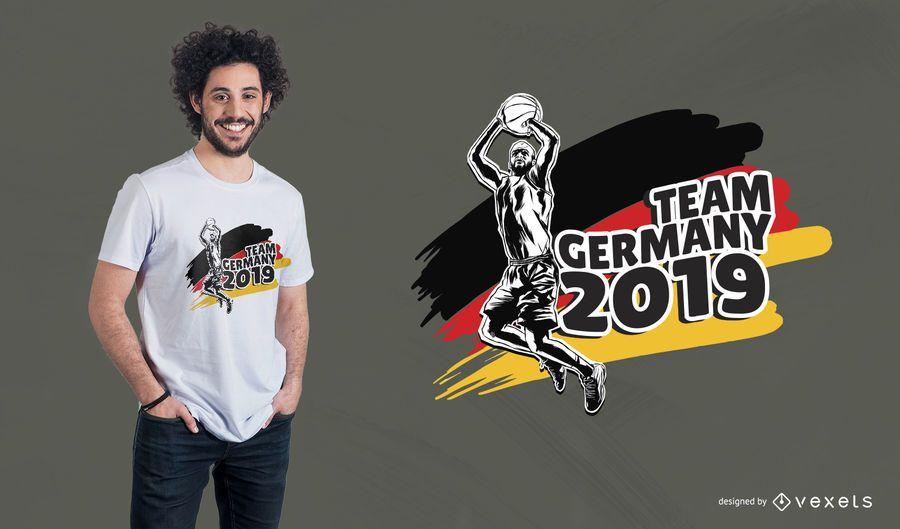 Projeto do t-shirt da equipa de basquetebol de Alemanha