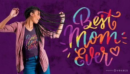 Diseño de camiseta Best Mom con temática de orgullo