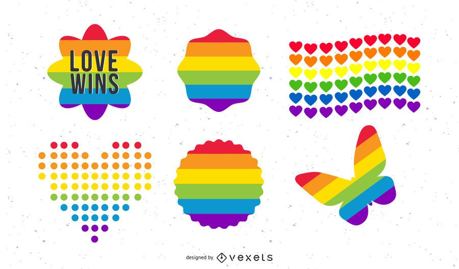 Conjunto de iconos de orgullo
