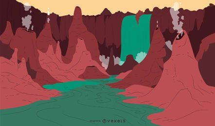 Fantasie-themenorientiertes Hintergrunddesign