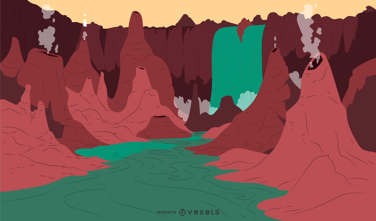 Fantasy Themed Background Design