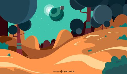 Fantasy Background Illustration