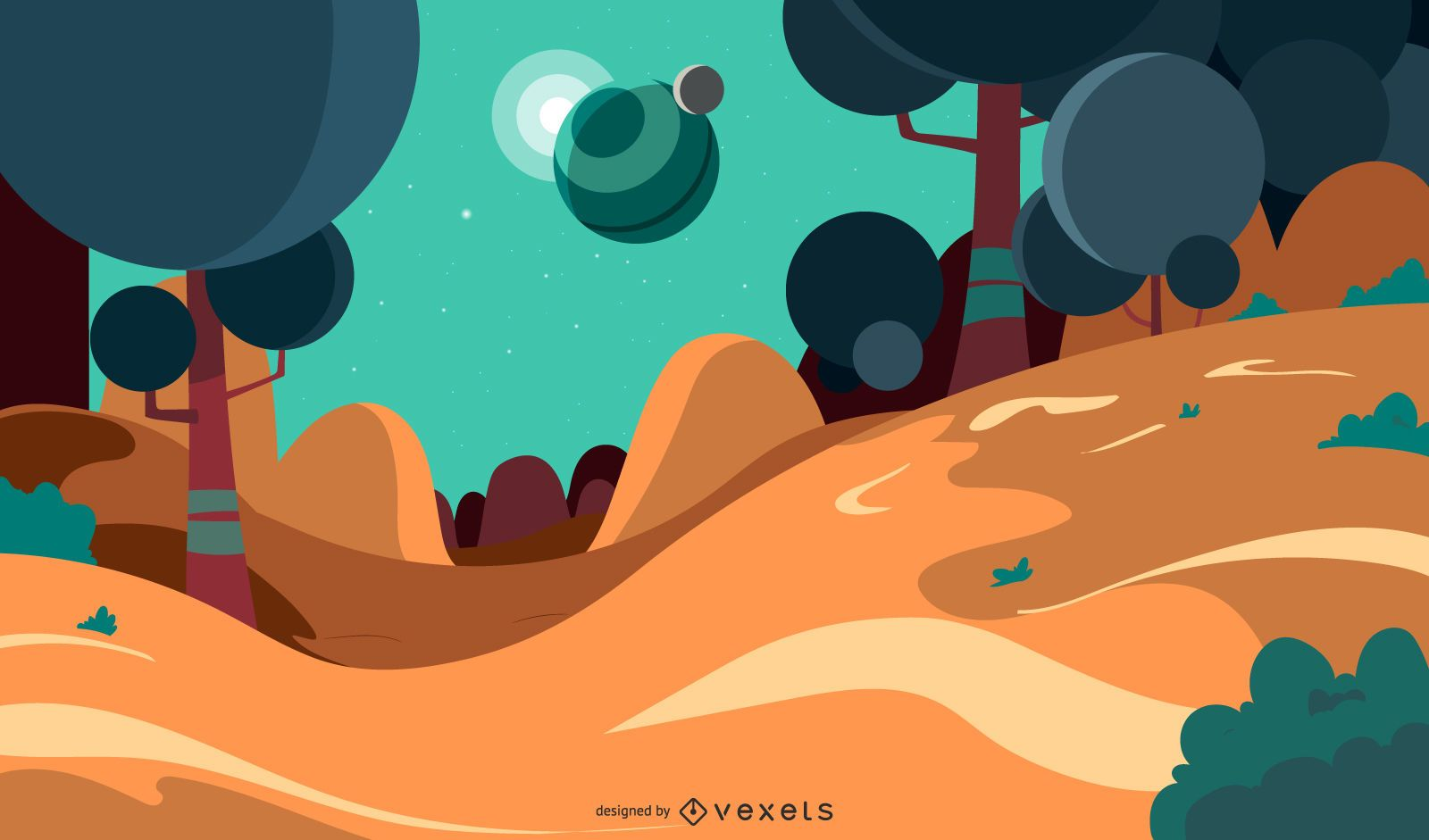 Fantasy Background Illustration