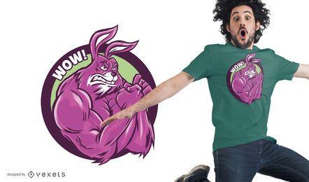 Muscular Bunny camiseta de diseño