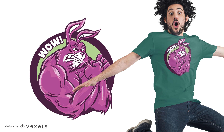 Muscular Bunny T-Shirt Design