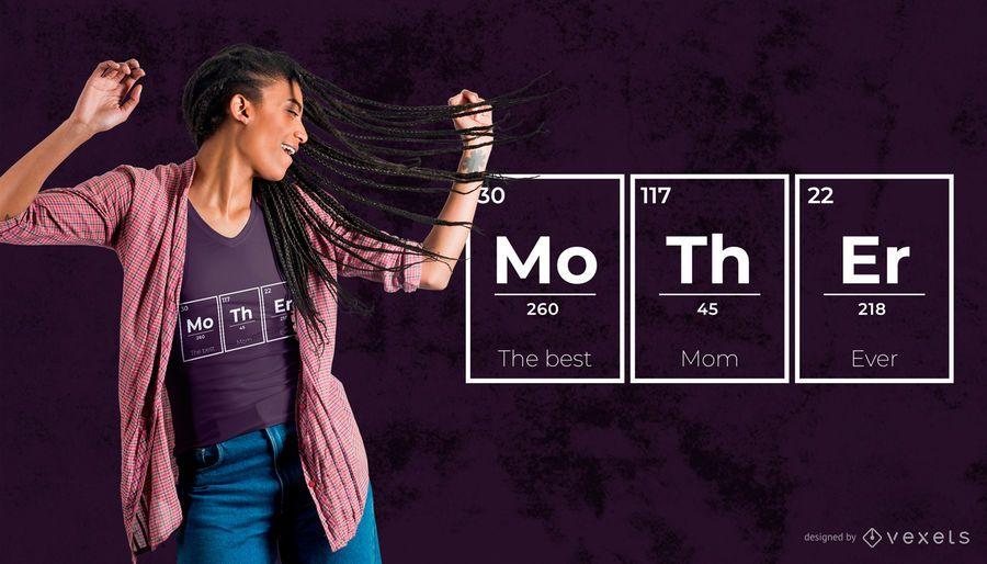 Projeto do t-shirt dos elementos da mãe