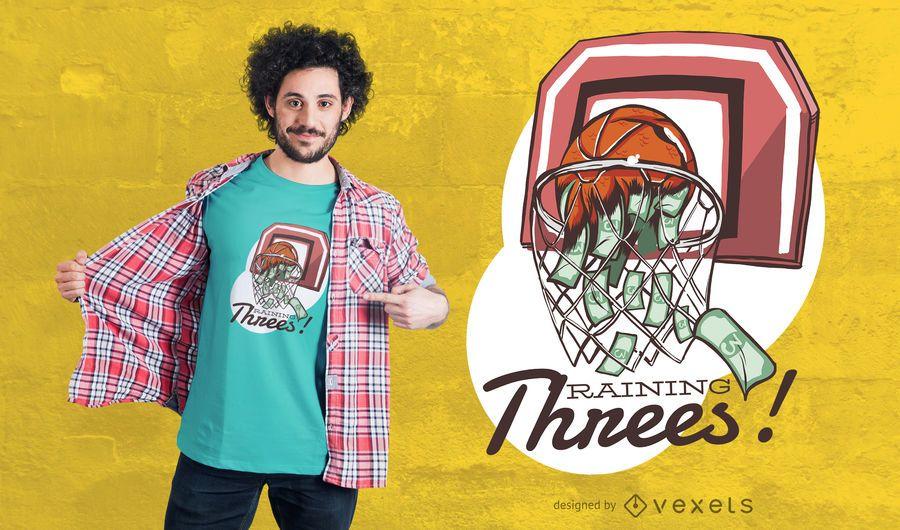 Regen von Threes T-Shirt Design