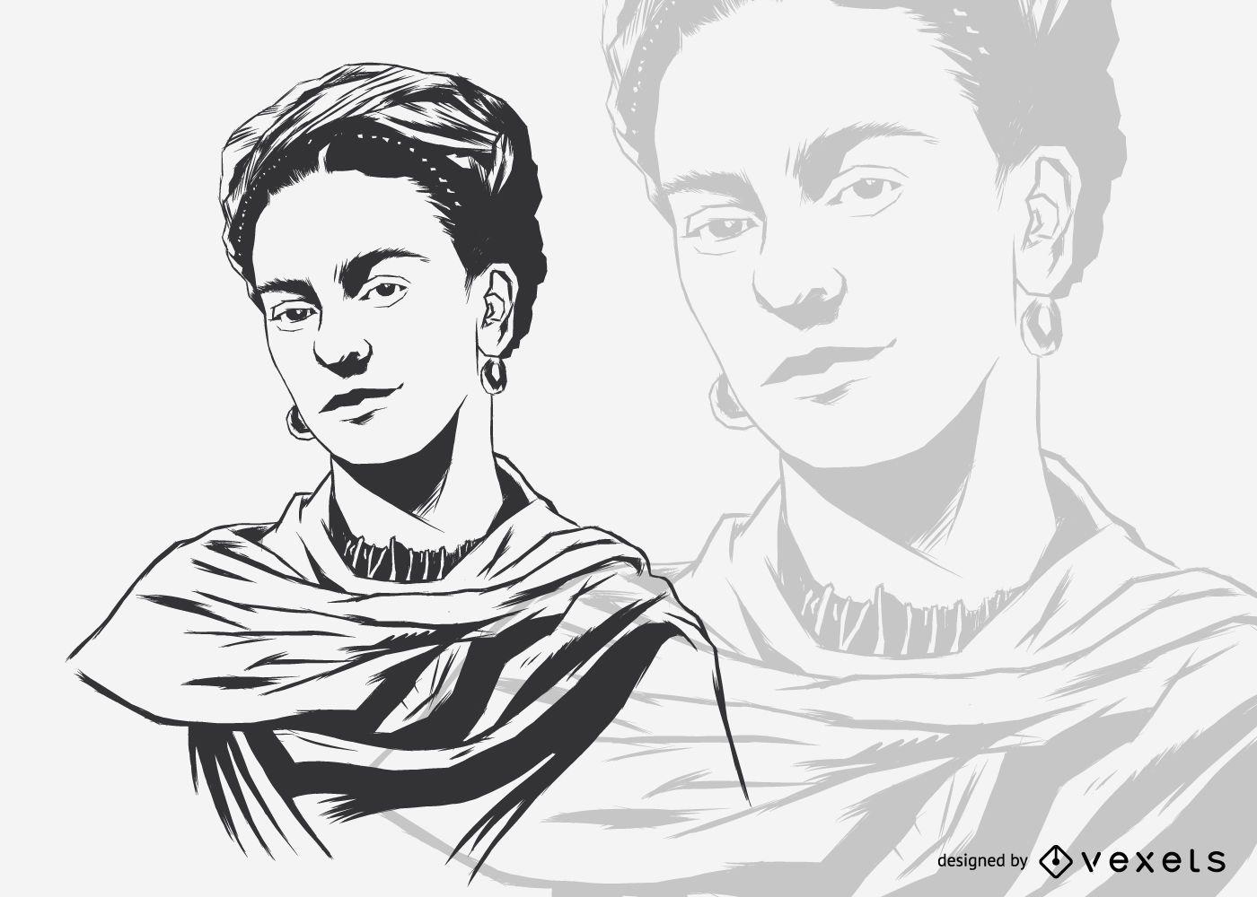 Ilustración de Frida Kahlo