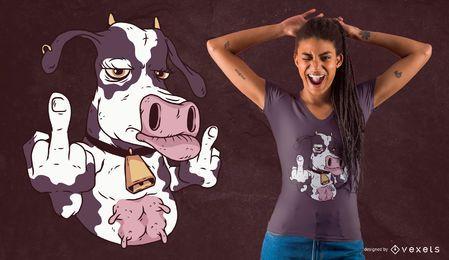 Cooler Kuh-T-Shirt Entwurf