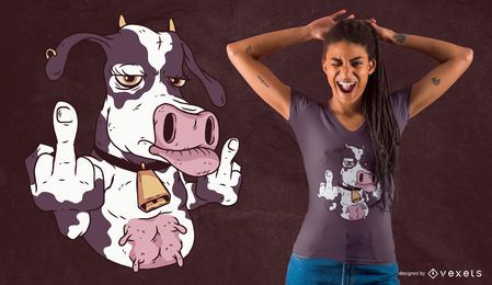 Design legal do t-shirt da vaca