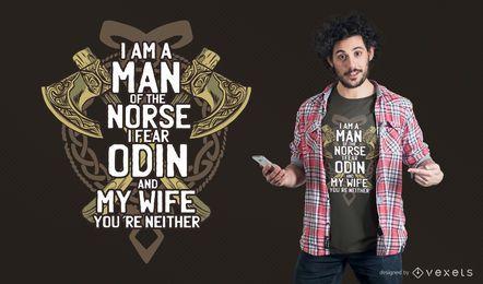 Design do t-shirt de Odin do medo