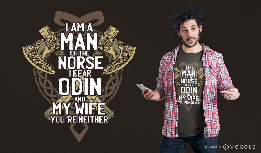 Diseño de la camiseta Odin Odin