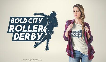 Projeto do t-shirt de Derby do rolo