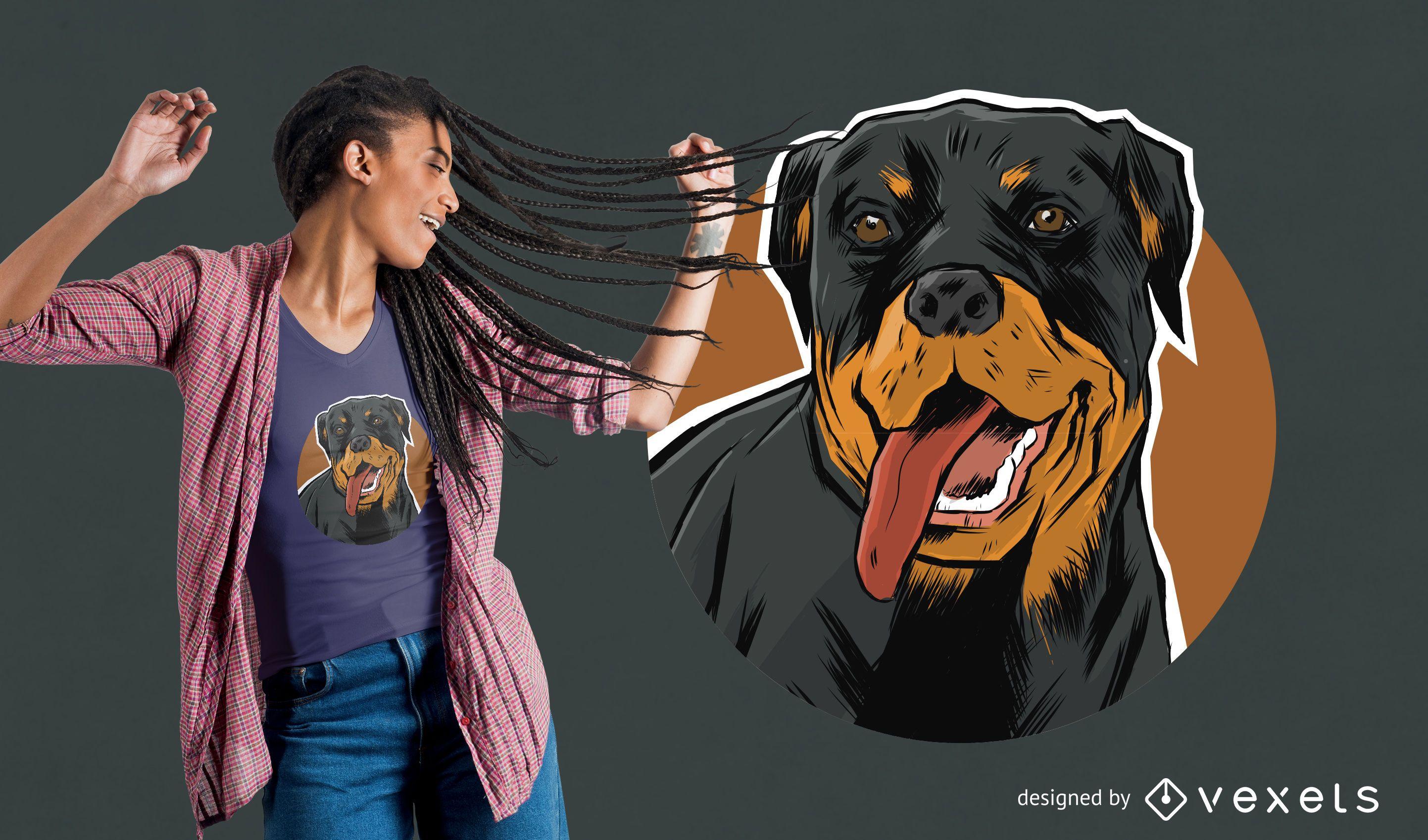 Rottweiler T-Shirt Design