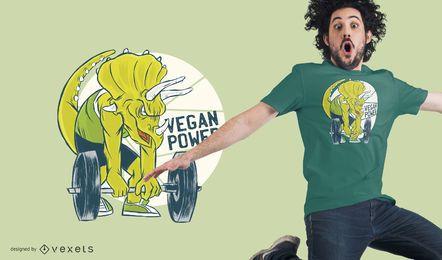 Diseño de camiseta de poder vegano