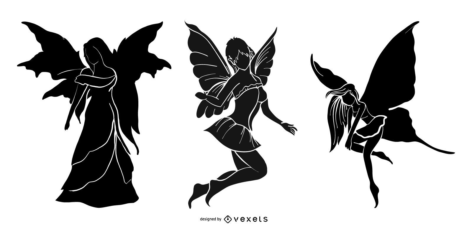 Fairy Silhouette Set Design