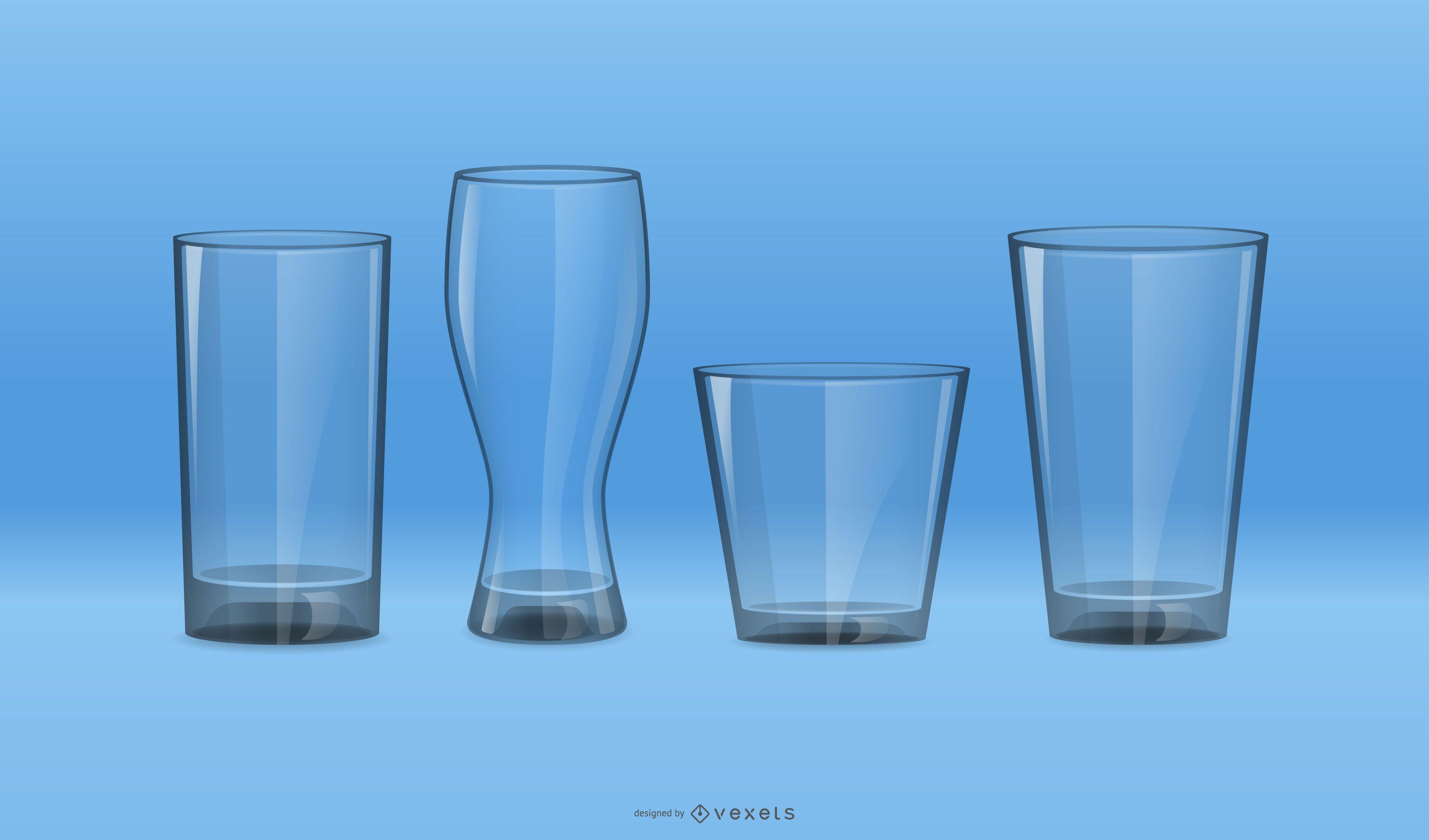 Drinking Glass Vector Set