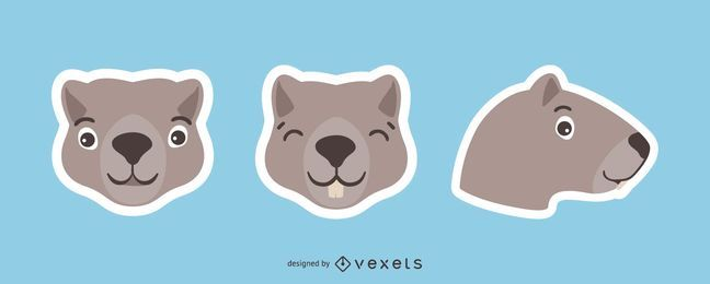 Groundhog Sticker Set