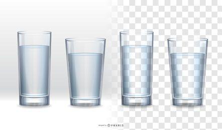 Colección de vidrio realista