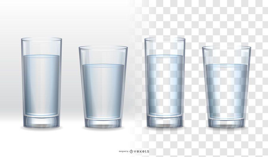 Coleção de vidro realista