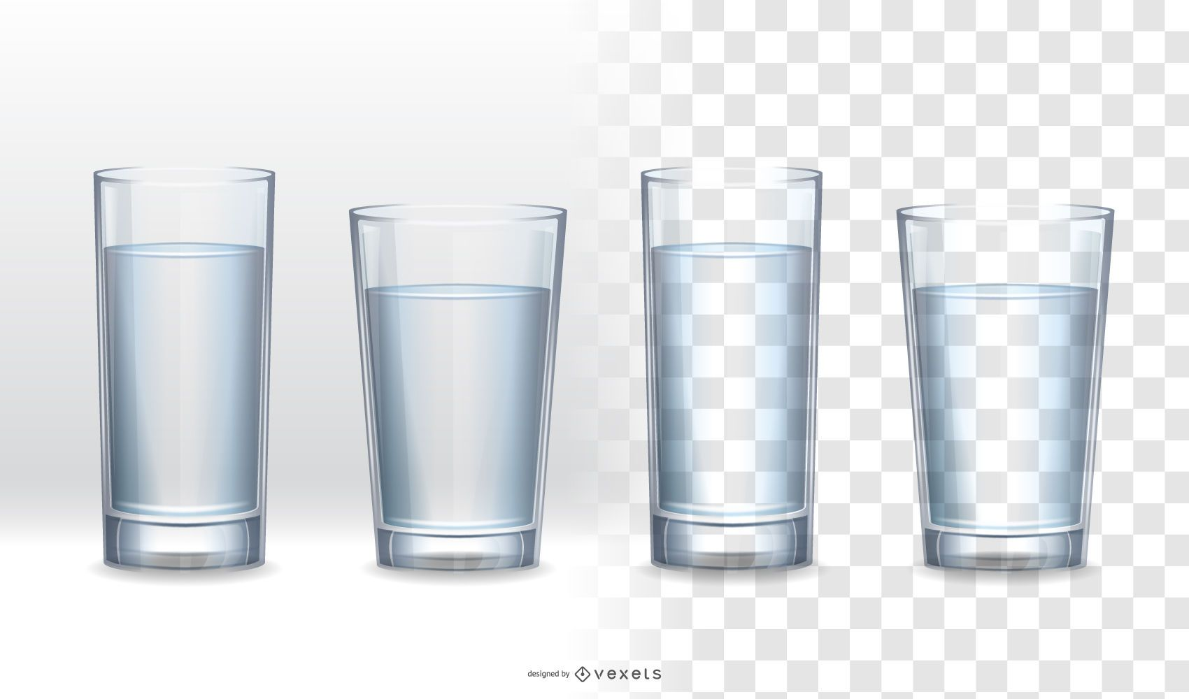 Realistic Glass Collection
