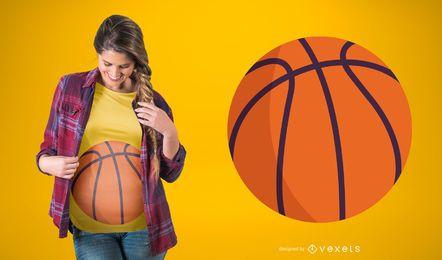 Design de camiseta de basquete para gravidez
