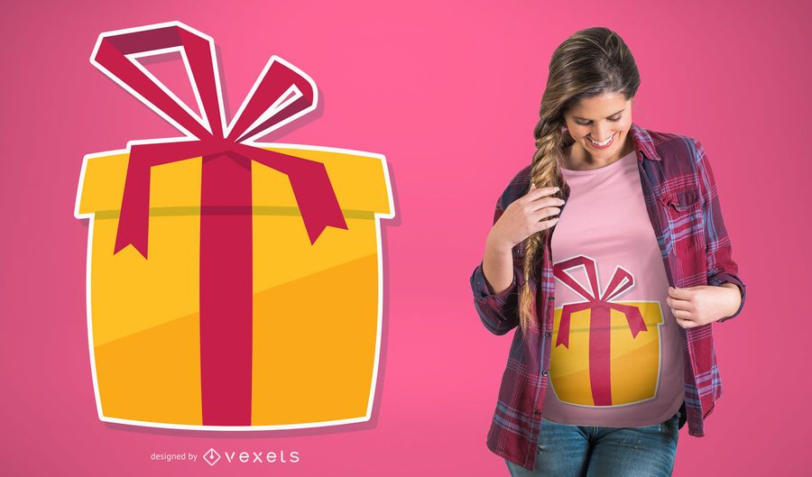Gift Pregnancy T-shirt Design