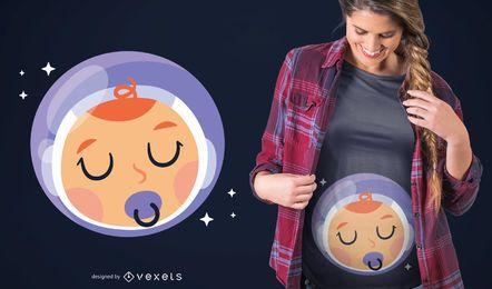 Diseño de camiseta de bebé niño astronauta