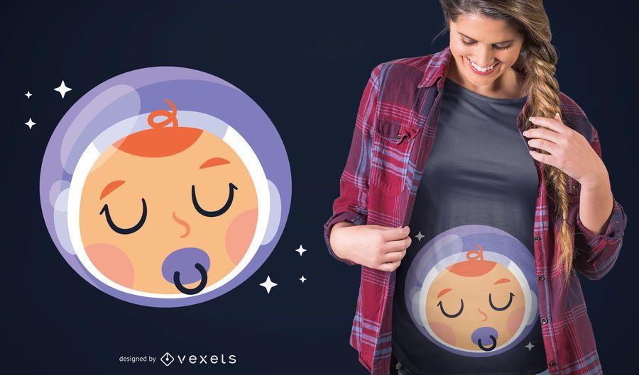 Projeto do t-shirt do astronauta do bebé
