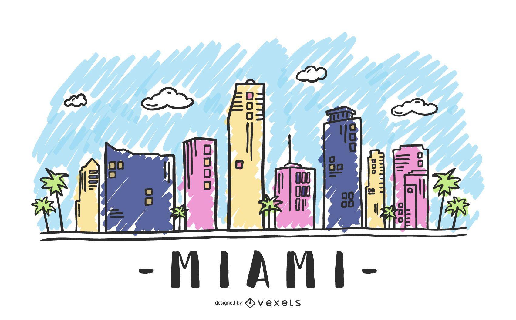 Miami USA Skyline Design