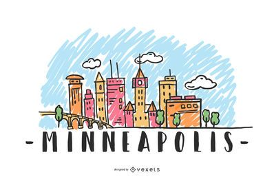 Minneapolis USA Skyline Design