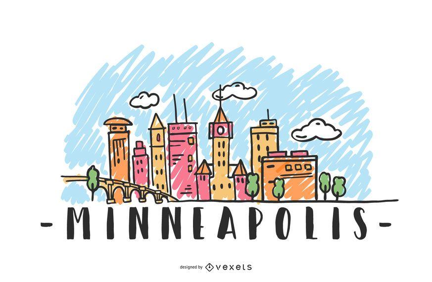 Minneapolis EUA Skyline Design