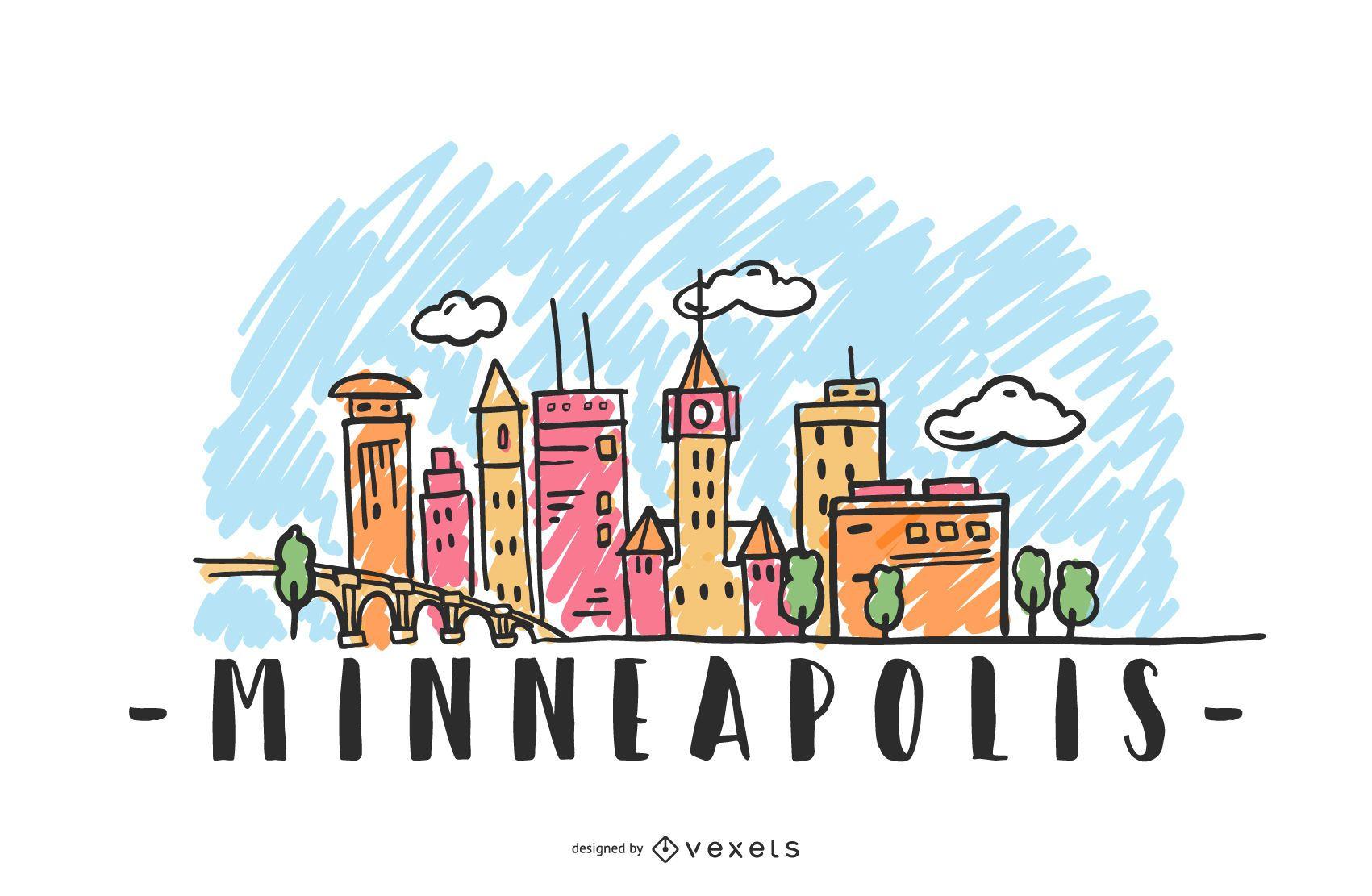 Minneapolis USA Skyline Design