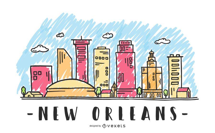 Nova Orleães EUA Skyline Design