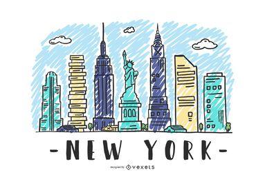 Nova Iorque EUA Skyline Design