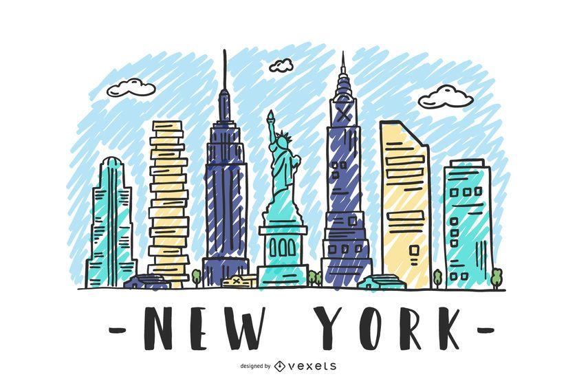 Nueva York USA Skyline Design