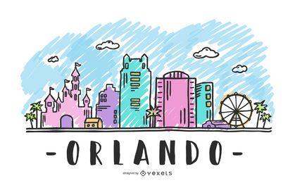 Orlando Skyline EUA Design